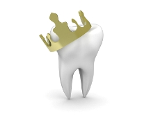 dental crown - real crown on a tooth