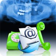 telefono, email per inviare la radiografia panoramica