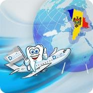 diente en el avión volando a Moldavia