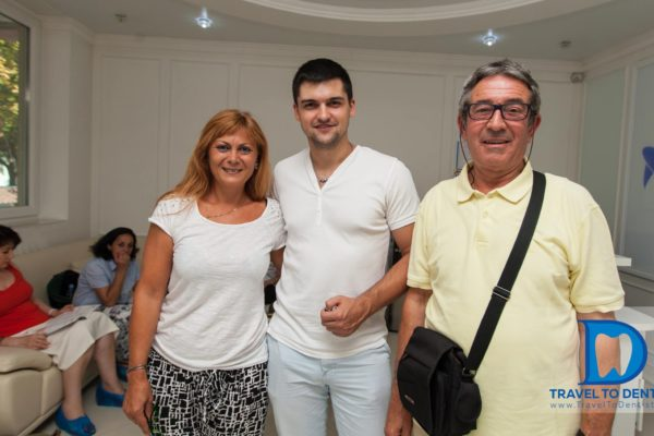 Satisfied patients and many smiles at our dental clinic from Moldova