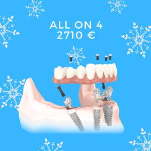 prezzo implantologia dentale in chisinau. All on 4 = 4 impainti + 10 denti in metalloceramica 2710 euro