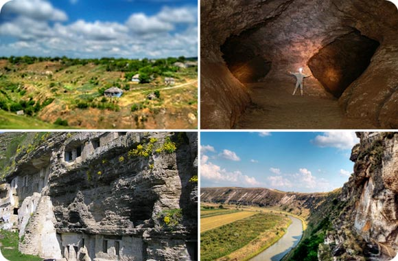 Rivers and caves in Moldova