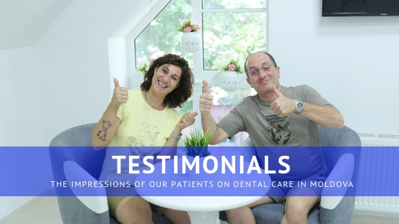 super satisfied patients of dental care abroad (Chisinau)
