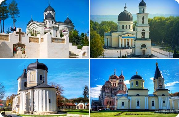 Monasterios e iglesias en Moldova