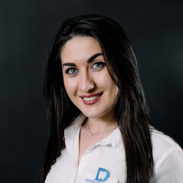 Elisa - the personal assistant for the patients that come in our dental clinic from Moldova for dental treatments