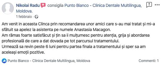 Aprecierile lui Nicolai despre clinica dentară din Chișinău