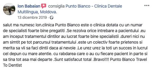 Experiența lui Ion în clinica Punto Bianco