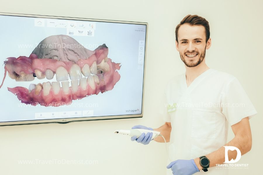 Moldovan dentist has just completed the 3D impression procedure using the 3Shape intraoral scanner to solve a case with teeth spacing
