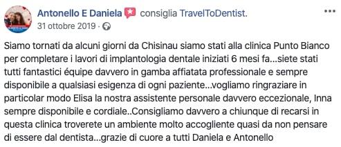 La recensione di Daniela e Antonello dopo le cure dentali in Moldavia