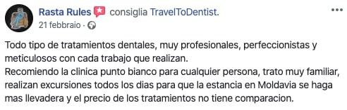 Impresiones del paciente sobre los tratamientos en la clínica dental en Moldavia.
