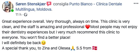 Soren's impressions after completing the dental treatment at Punto Bianco