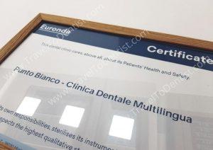 Certificate: Excellence in sterilization