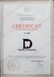 trademark certificate TravelToDentist