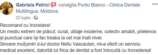 Avis de la part d'une patiente satisfaite du traitement dentaire