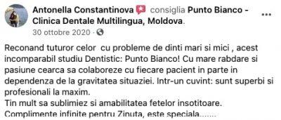 Părerea pacientei despre clinica dentara Punto Bianco